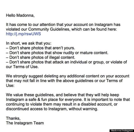 madonna instagram account