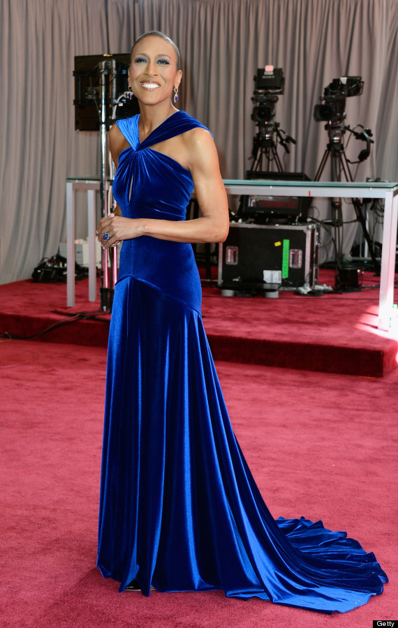 robin roberts oscars 2013 dress