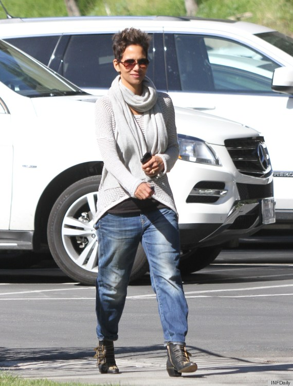 Halle Berry Wears Drop Crotch Jeans PHOTOS HuffPost