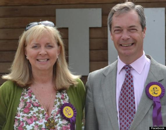 Anna-Marie Crampton pictured with Ukip leader Nigel Farage