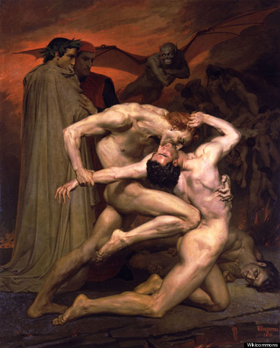 Image result for sodomites in hell dante