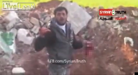 syrian rebel abu sakkar eats heart