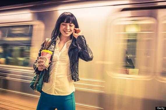 subway headphones