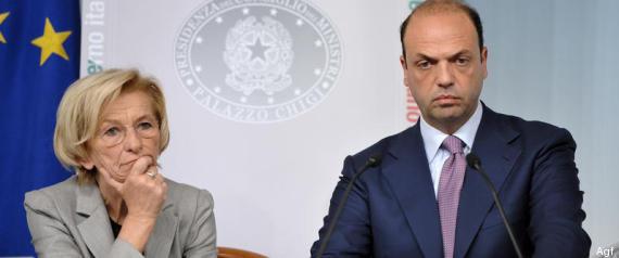 Il ministro Bonino con il ministro Alfano