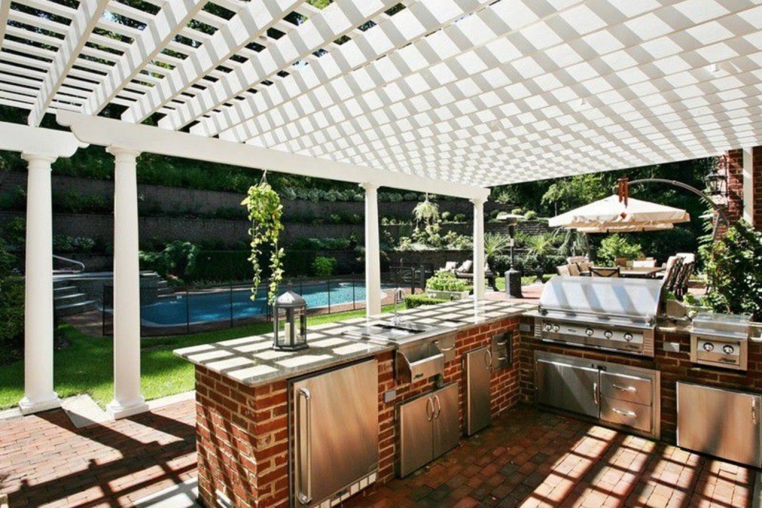 14 Incredible Outdoor Kitchens That Go Way Beyond Grills ... on Patio Kitchen  id=31302