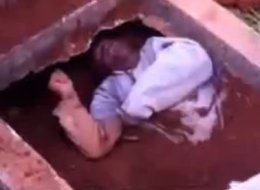 man buried alive brazil