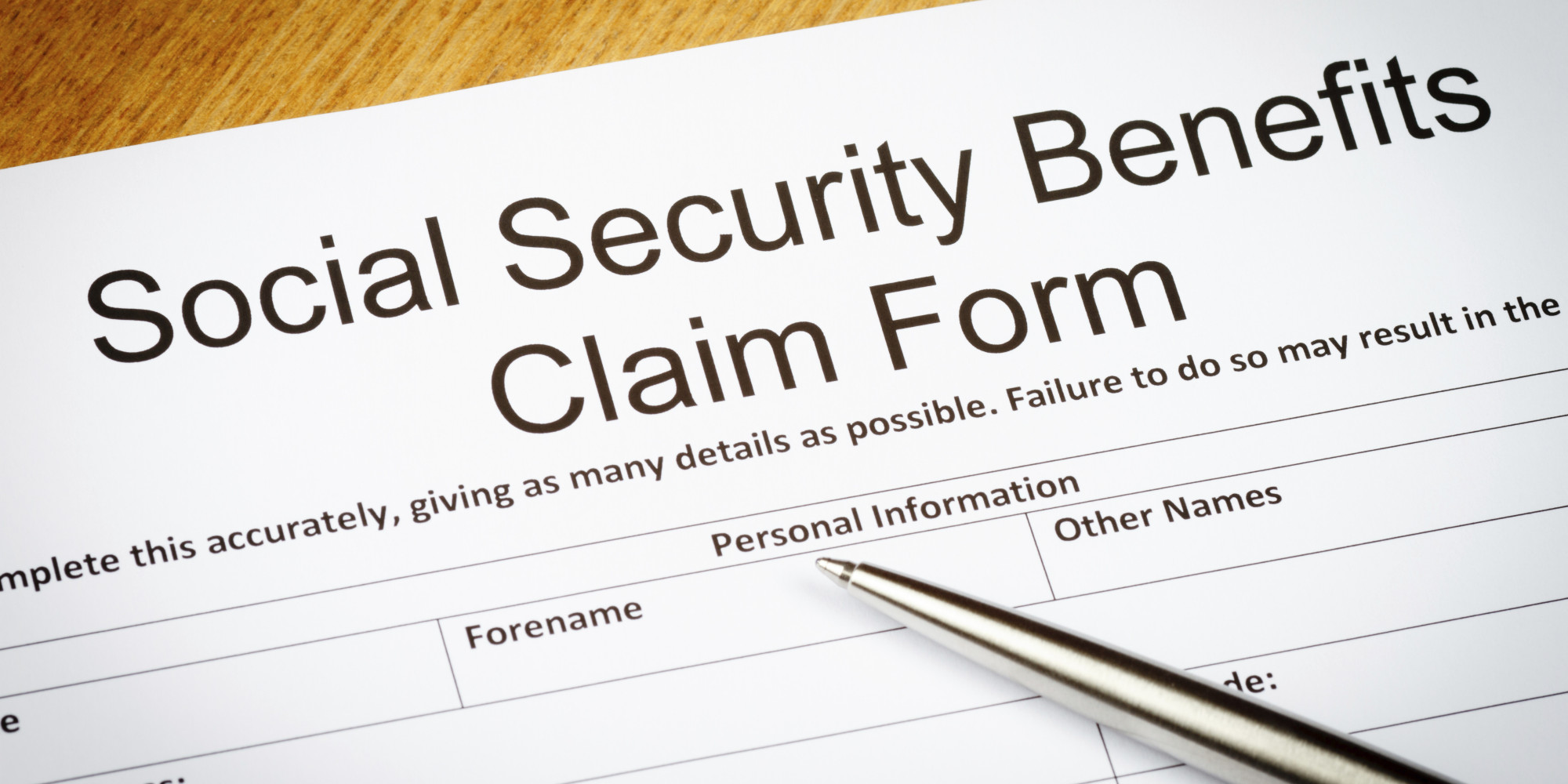 Social Security Application Worksheet
