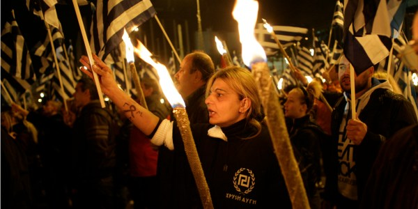 Golden Dawn Rally: Greece's Ultra-Right Party Holds ...