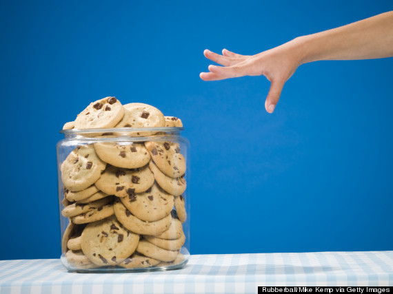 hand cookie jar