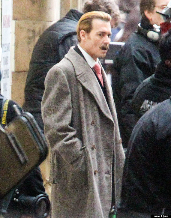Johnny Depp Goes Blonde On The Set Of Mortdecai HuffPost