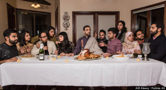 The Muslim Last Supper.  Photo by Atif Ateeq.