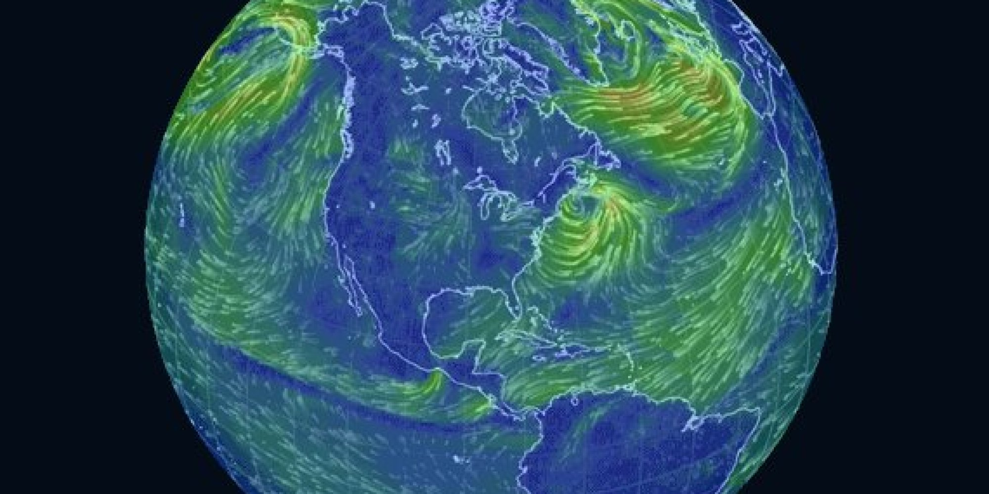 This Trippy Map Of Global Wind Patterns Is A Massive Time