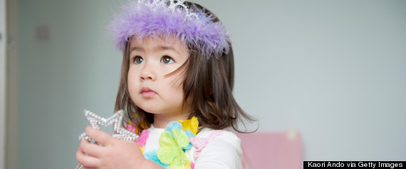 toddler in costume