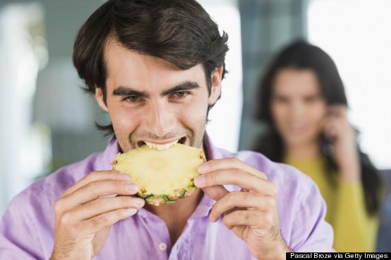 pineapple happy man