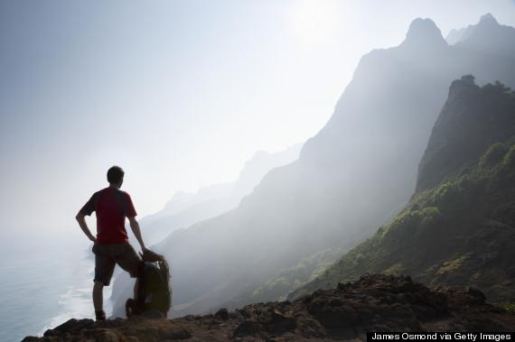 hiker alone