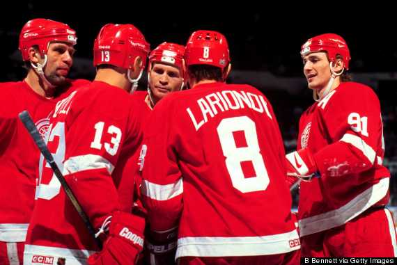 russian five detroit red wings