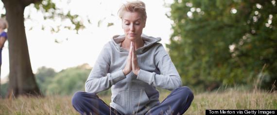mature meditating