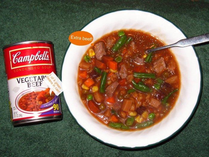 campbells beef vegetable soup