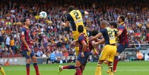 Godín anota el gol que le dio la Liga al Atlético hace dos temporadas.