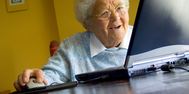 Image result for old woman on computer meme