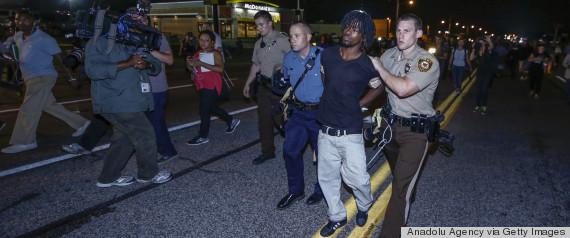 ferguson protesters arrested