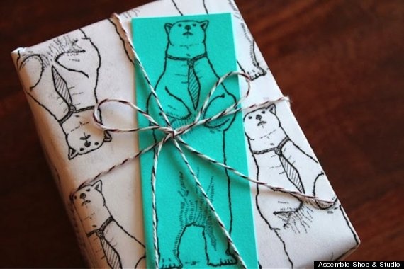junk mail gift wrap