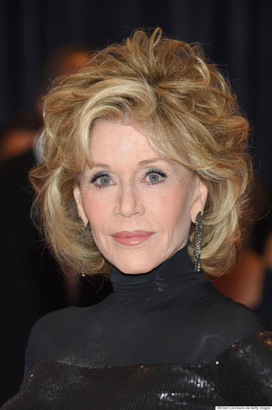 Jane Fonda Stuns In Slinky Black Dress At White House