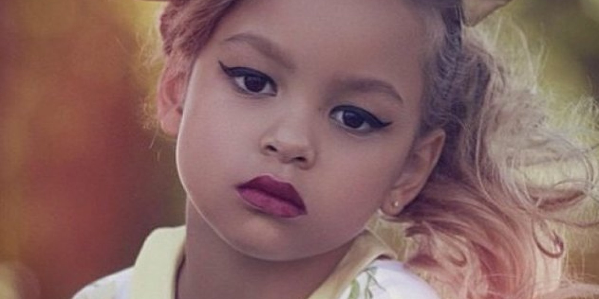 Image result for little girl with makeup