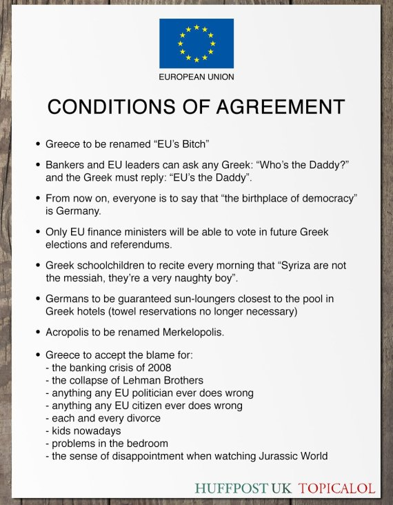 greece conditions of agreement