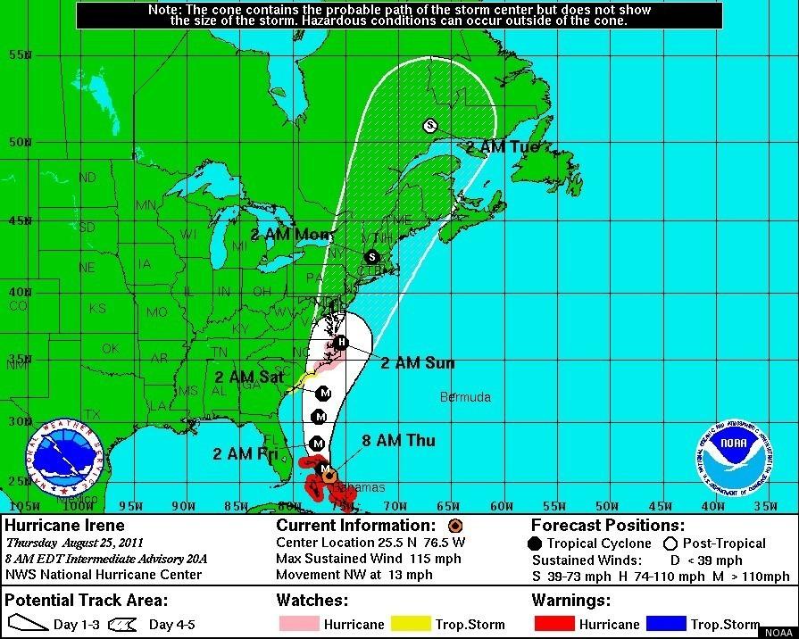 Image of Hurricane Irene