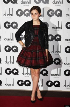 Emma Watson Rocks Tartan McQ Dress To GQ Men Of The Year Awards     What do you think of the look     too tough around the edges for sweet  Hermione