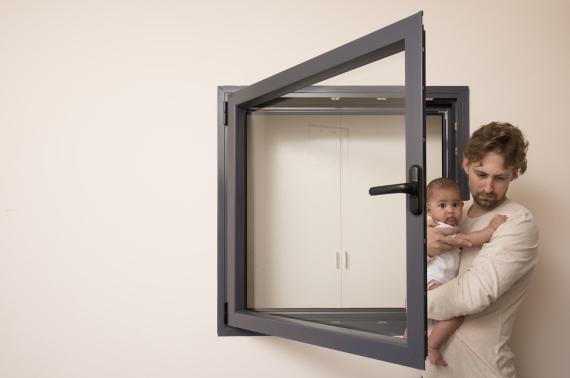closed window baby