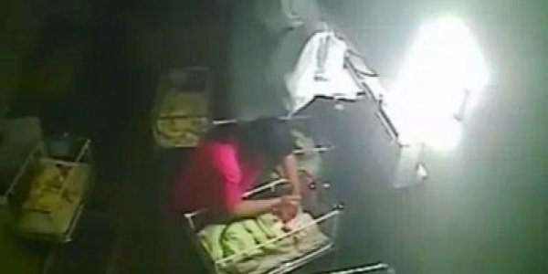 Horrifying CCTV Footage Captures Midwife Biting New Born ...