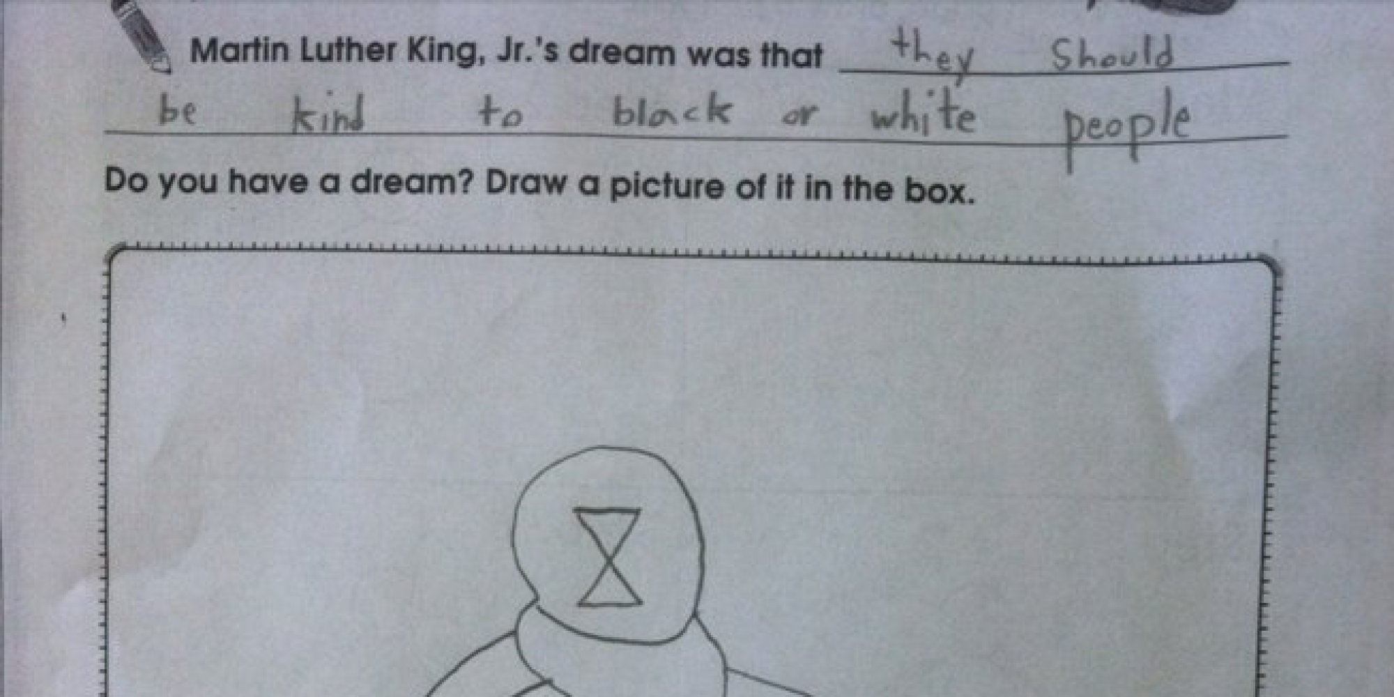 Child S Answer To Martin Luther King Dream School