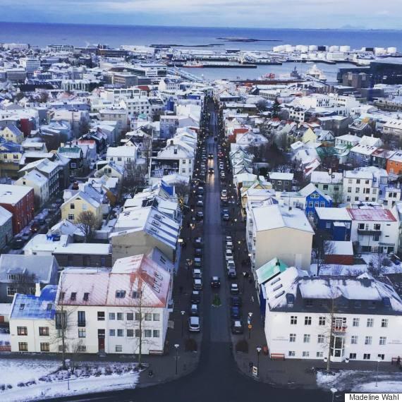 reykjavik city from church