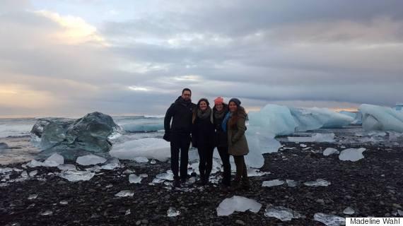 iceland group in jokulsarlon