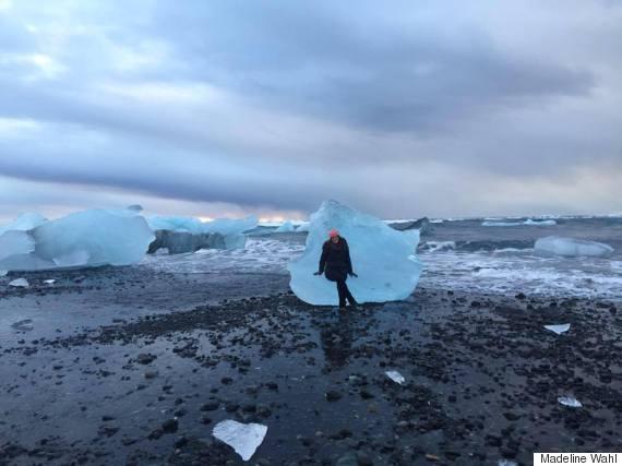 mw sitting on glacier