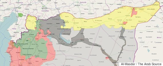 north syria map