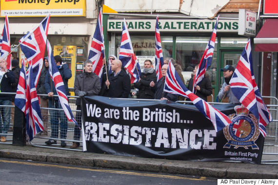 britain first protest