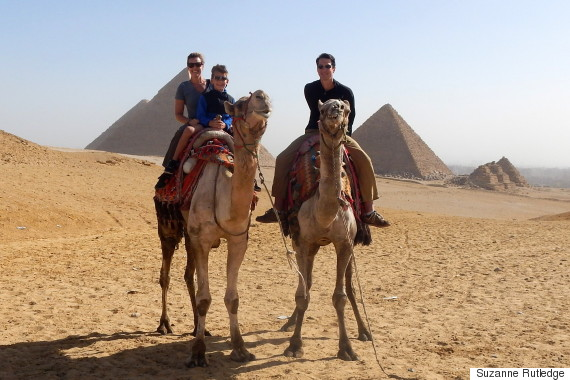 rutledge family riding camels