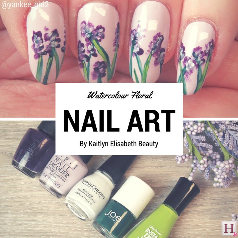Nail Art An Easy Fl Watercolour Design