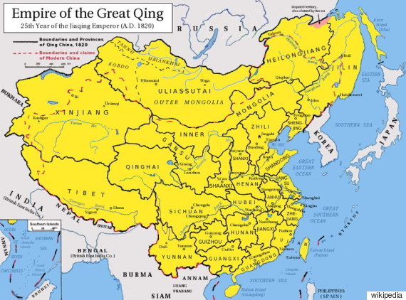 qing empire map