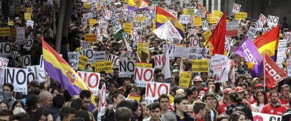 Manifestación de estudiantes el 14 de abril en Madrid. | GTRES