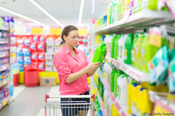 cleaning products woman shopping