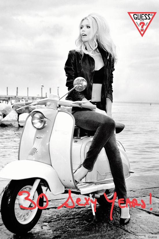 Claudia Schiffer Guess Campaign Marks Brand's 30th ...