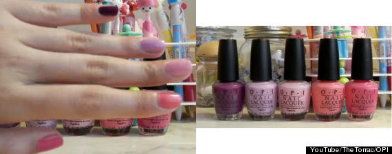 How It Is Exactly Like The Grant Look Ombre Nails Much Hair Flows In Colour From Light To Dark This However Pleted On One