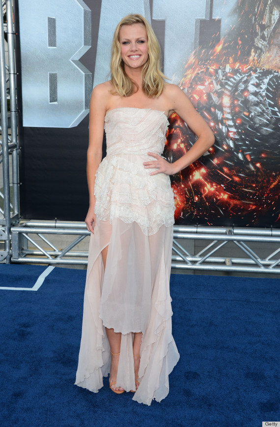 Brooklyn Decker Sheer Dress Stuns At Battleship Premiere