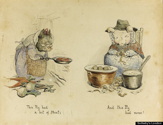Original Beatrix Potter Illustrations Of The Five Little