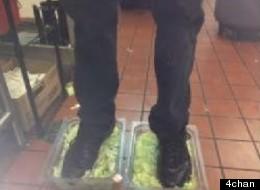 Burger King Employee Steps In Lettuce