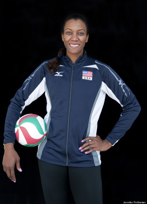 Black Volleyball Players